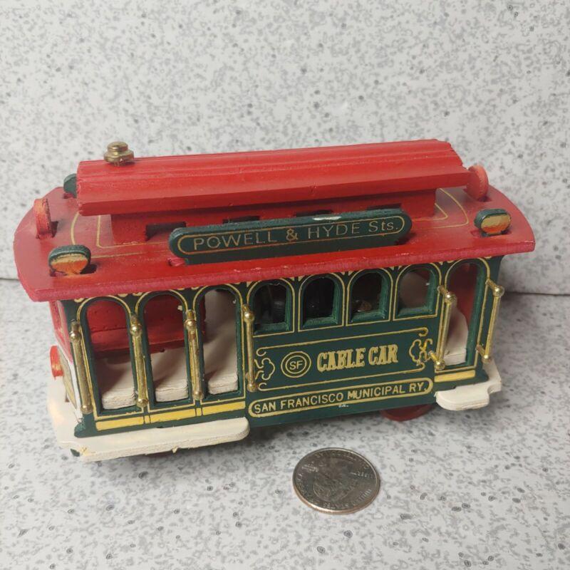 "Vintage ""San Francisco Cable Car"" Music Box Powell & Hyde Street Trolley Train"