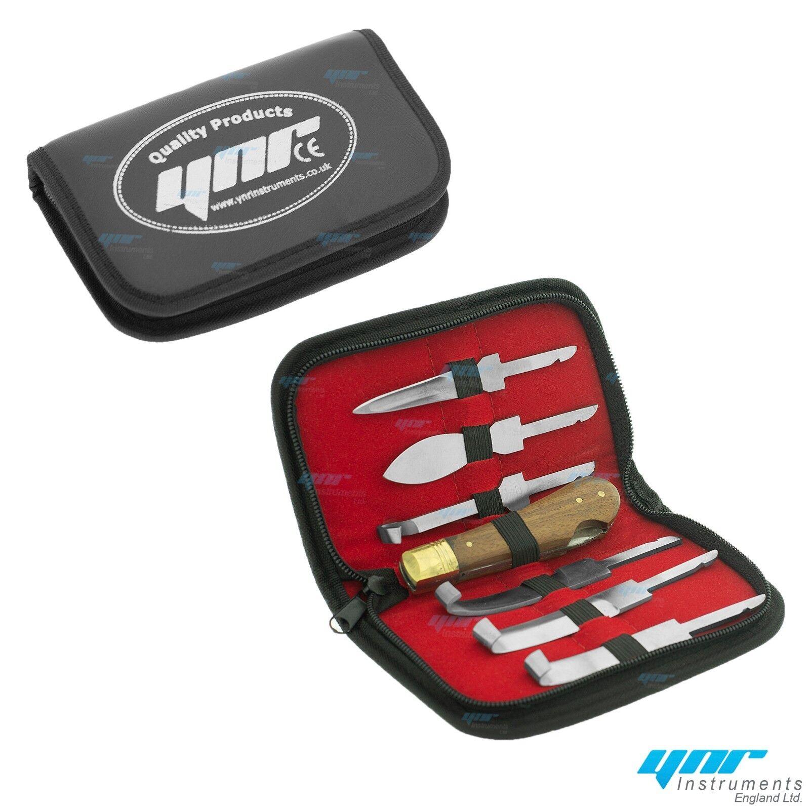Professional Farrier HOOF KNIVES Set Kit VETERINARY Enquine Horse S STEEL New