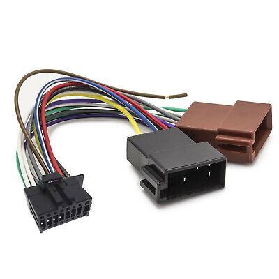 Cable Adaptador Audio DIN ISO 16 Pin para Radios JVC Kenwood Coche