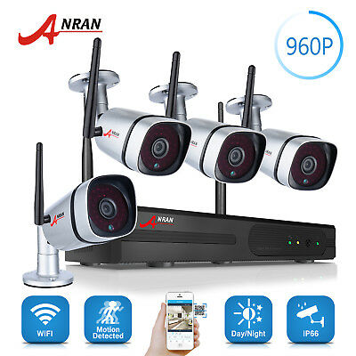 HD 1080P 8CH NVR Wireless 960P CCTV Security Camera System WIFI DVR Outdoor IP66