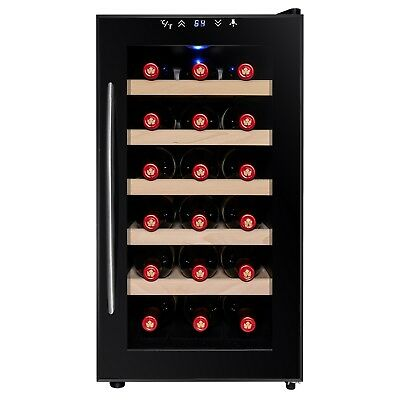 18 Bottle Temperature Touch Control Freestanding Electric Wine Cooler Chiller