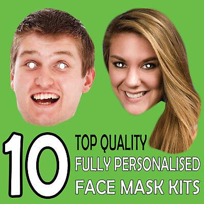 10 Billig Maßanfertigung Gesichtsmaske zum Selbermachen Satz personalisiert Foto