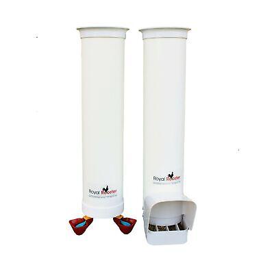 Royal Rooster Twin Cup Drinker Feeder Set - 6.5lbs 1 Gal