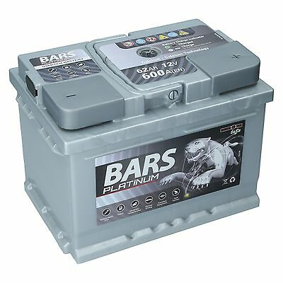 BARS PLATINUM 12V 62Ah 600 A/EN +POL RECHTS Autobatterie