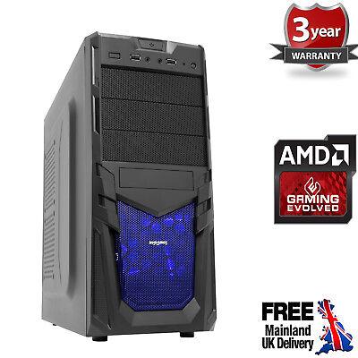 Computer Games - Ultra Fast AMD Quad Core Radeon HD 8GB 1TB Home Gaming PC Computer Hdmi Venom