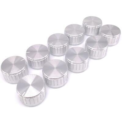 10pcs Silver Aluminum Volume Control Knob Amplifier Wheel 3017mm D-shaft
