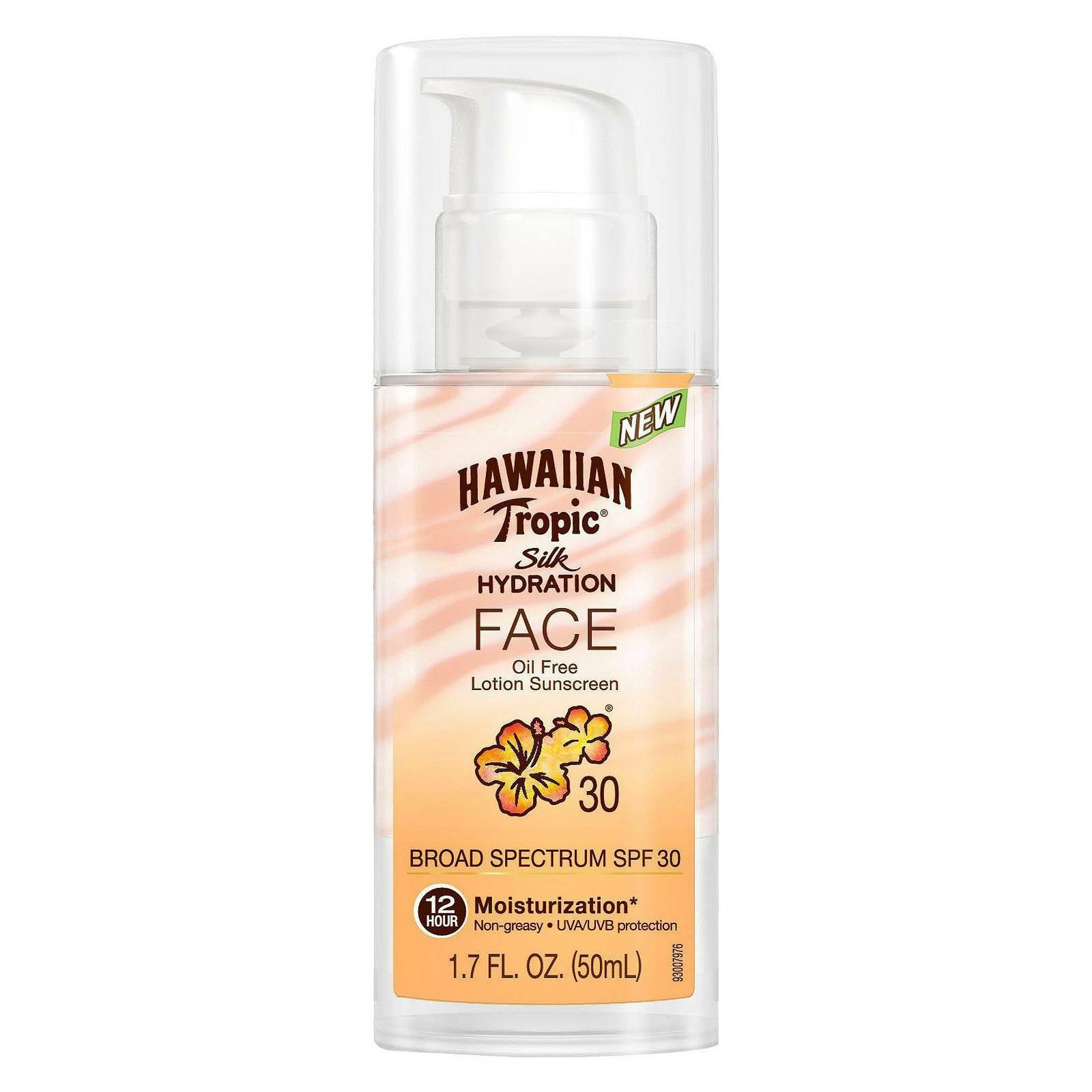 Hawaiian Tropic Sunblock Oil Free Faces SPF 30 4 fl oz (118 ml) Age Defying Hyaluronic Acid Serum with Vitamins C & E, Professional Grade by Pure Body Naturals, 1 Fluid Ounce