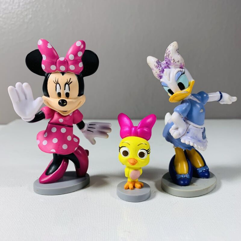 Disney Daisy Duck, Minnie Mouse And Cuckoo-Loca PVC Figurine Cake Topper