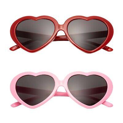 Neu Herz Kinder Sonnenbrille UV400 Klassisch Mädchen Lolita Mode Brille