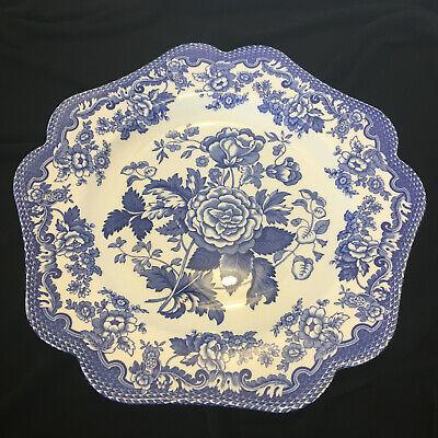 Spode Blue Room Garden Collection Buffet/Dessert Plate British Flowers Rosa Spode Buffet Plate