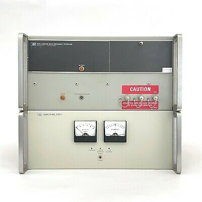 Hp 5061a Cesium Beam Frequency Standard Atomic Clock 5089a Power Supply