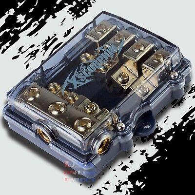 4 POSITION MINI ANL (AFS/MIDI) GOLD DISTRIBUTION BLOCK 4 TO 8 GAUGE CAR MARINE