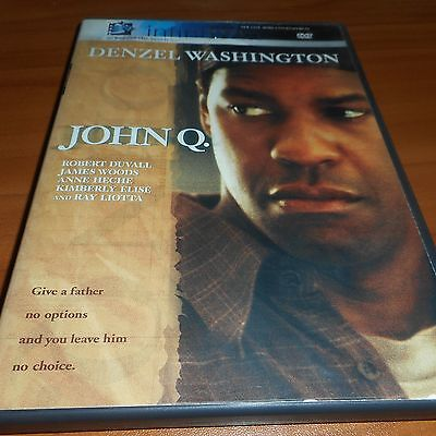 John Q  Dvd  Widescreen 2002  Denzel Washington  Robert Duvall  Anne Heche Used