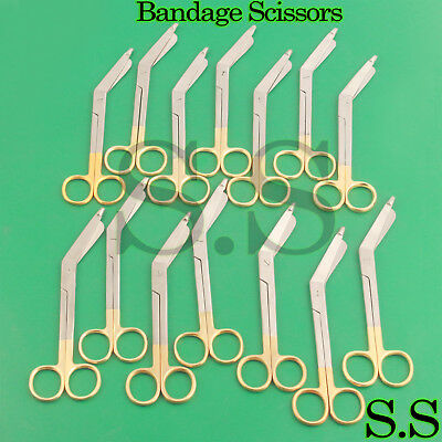 20 Supercut Lister Bandage Scissors 7.25 Gold Handle Surgical Instrument