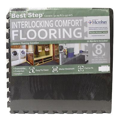 Best Step 8Pc Anti-Fatigue Microban Interlocking Comfort Flooring 32 Sq Ft