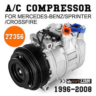 (AC Compressor For Mercedes-Benz Dodge Sprinter Crossfire 1996-2008 77356)