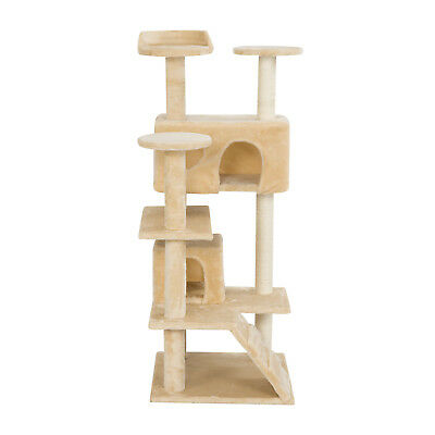 Mecor 51'' Cat Tree Beige Tower Condo Furniture Scratch Post Kitty Pet House