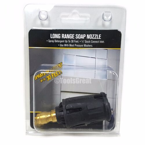 """BE Quick Connect Long Range Pressure Washer Soap Nozzle Tip 1/4"""""""