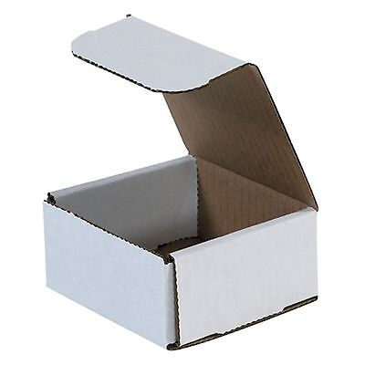 50 - 4x4x2 Small White Corrugated Cardboard Packaging Shipping Mailing Box Boxes