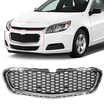 NEW Silver+Black Front Center Grille Grill Fits 2014-2015 Chevrolet Malibu 14 15