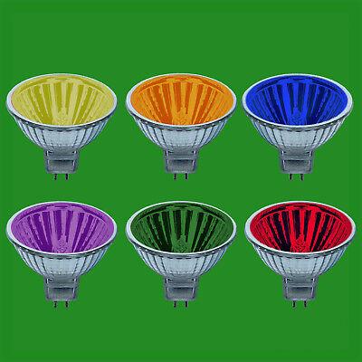 Farbige Mr16 Leuchtmittel (12x 50W Farbig MR16 12V Halogen Spot Glühlampen Lampe 13 Grad Beam Reflektor)