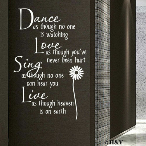 Home Decoration - Dance Love Sing Live Wall Quotes Decal Removable Stickers Home Decor Vinyl Art