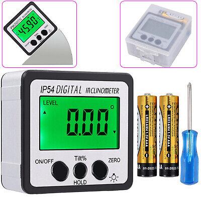 0-360 Digital Inclinometer Level Box Protractor Angle Finder Bevel Gauge Magnet