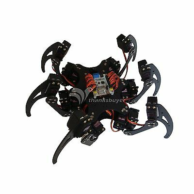 18dof Aluminium Hexapod Spider Six 3dof Legs Robot Frame Kit Fully New