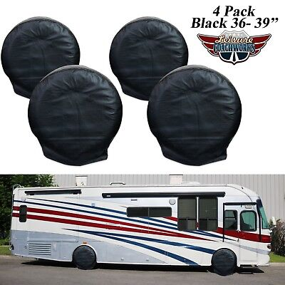"Set Of 4 36""-39"" Wheel Tire Covers For RV Motorhome Camper Car Truck  5B"