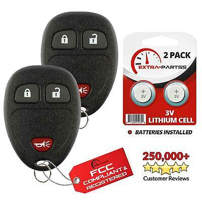 2 For 2007 2008 2009 2010 2011 2012 2013 Chevrolet Silverado Remote Key Fob