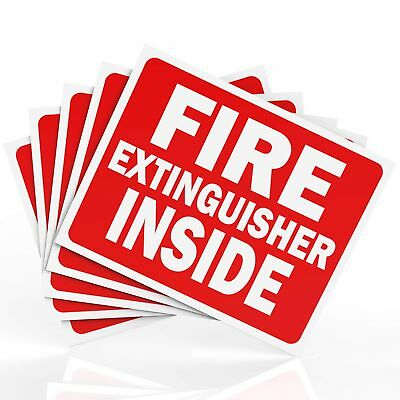 Fire Extinguisher Inside Sticker Sign Decal High Quality Safety Adhesives
