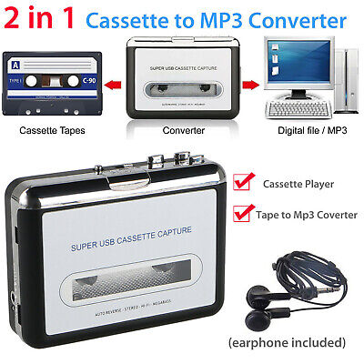 Tape to PC USB Cassette MP3 CD File Converter Capture Digital Audio Music Player