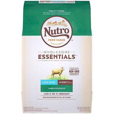 NUTRO WHOLESOME ESSENTIALS Natural Adult Large Breed Dry Dog Food Lamb 30 lb Bag