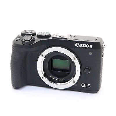 Canon EOS M6 Mark II 32.5MP Mirrorless Digital Camera Body (Black) -Near Mint-