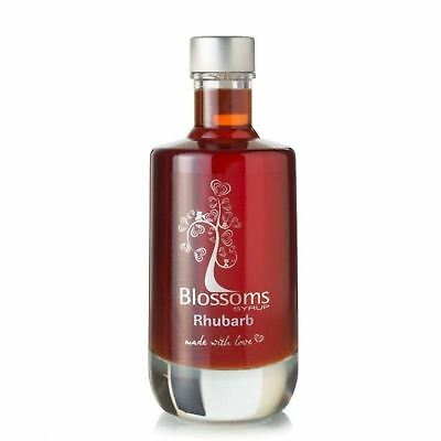 Blossoms Syrup Rhubarb Gourmet Premium Cocktail Cordial Syrup Natural 100ml