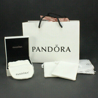 Pandora Gift Bag 3 With Velvet Lined Box Draw String Bags Tissue Paper