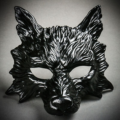Scary Face Masks (Wild Wolf Animal Full Face Masquerade Mask Scary Halloween Party Masks -)