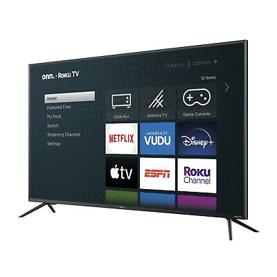 "Onn 50"" Class 4K (2160P) Roku Smart LED TV (100012585) - Refurbished"