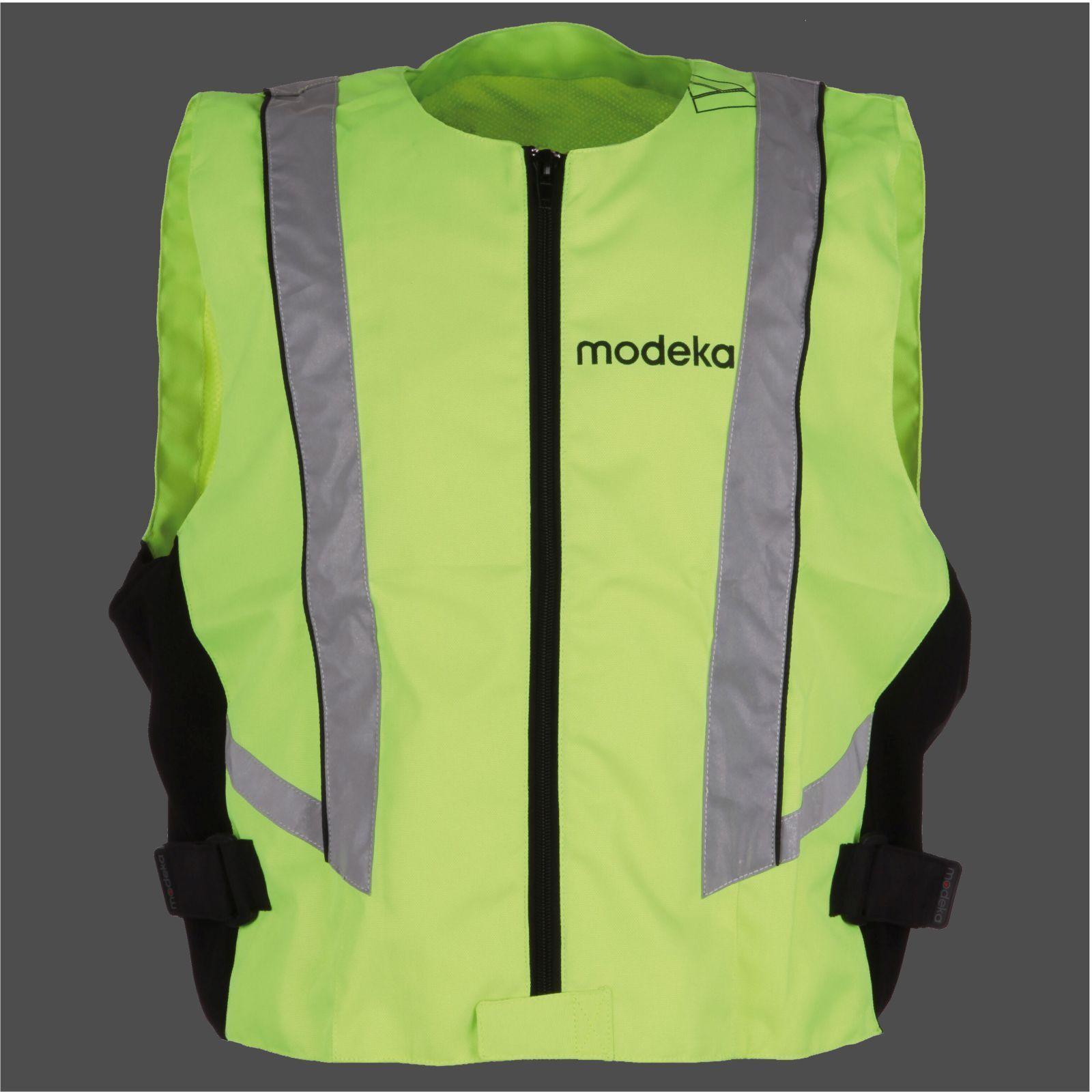 MODEKA Motorrad Roller Warnweste Sicherheitsweste Reißverschluss StretchSeitlich