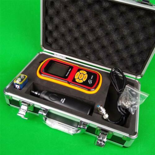 GM63B Digital Vibration Monitor 9V with Pointed Probe LCD Vibrometer Tester