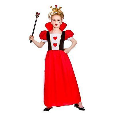 Storybook Queen Hearts Alice Fairytale Mystical Kids Girls Fancy Dress Costume