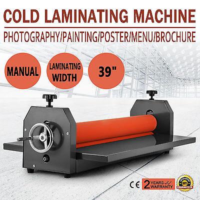 1000mm 39 Cold Laminator Laminating Machine Manual Wide Format Menu Vinyl Film