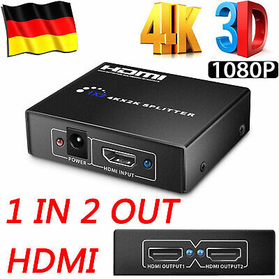 2 Port HDMI Umschalter Switch Splitter Verteiler 1 IN 2 OUT 4K 3D HD 1080p Dolby