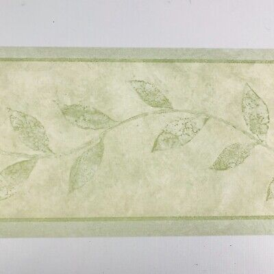 Norwall NTX79279 Simple Leaves Wallpaper Border Light Green 5 Yards Prepasted