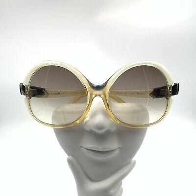 Vintage Pierre Cardin Translucent Oversized Oval Sunglasses France FRAMES ONLY