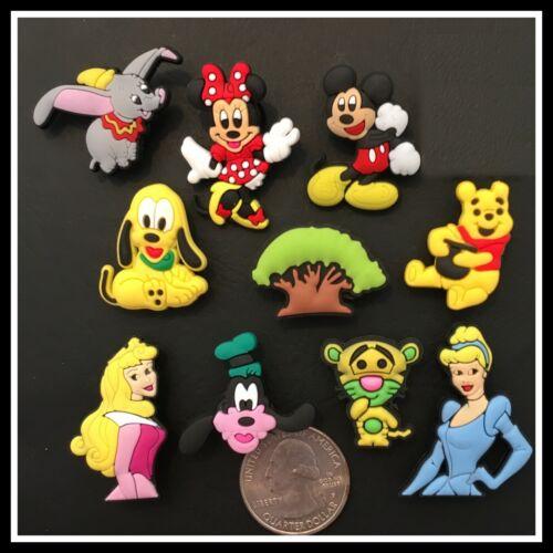 10 Shoe Charms for Crocs Disney World Characters Mickey Cinderella Tigger Dumbo