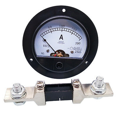 Us Stock Dc 0200a Analog Amp Current Pointer Needle Panel Meter Ammeter Shunt