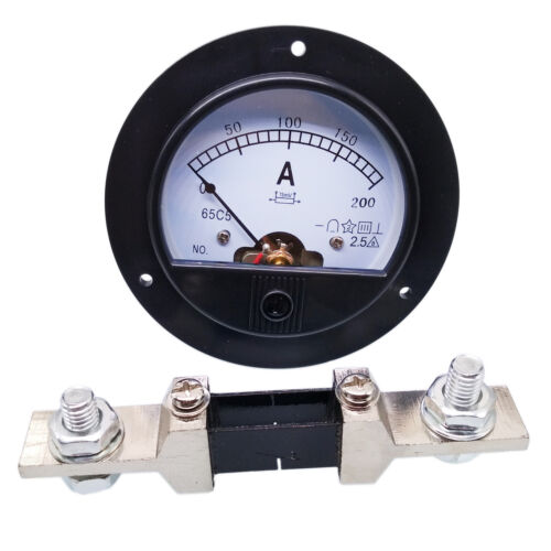 US Stock DC 0~200A Analog AMP Current Pointer Needle Panel Meter Ammeter & Shunt
