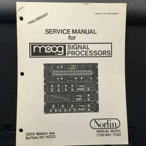 Service Manual ~ Moog Norlin 307A Signal Processors 12-Stage Phaser ~ Original