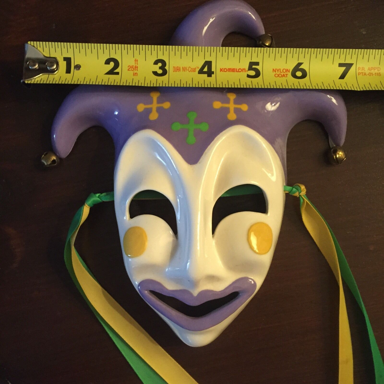 Ceramic Mardi Gras Mask, New Orleans, Purple, Green, Gold ...